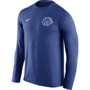 Men's Nike Heathered Royal Boise State Broncos Touch Performance Long Sleeve T-Shirt