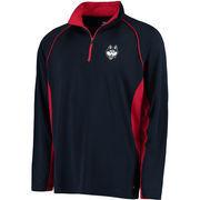 Men's Colosseum Navy UConn Huskies Air Stream Quarter-Zip Pullover Jacket