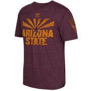 Men's adidas Maroon Arizona State Sun Devils Local Tri-Blend T-Shirt