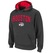 Men's Stadium Athletic Charcoal Houston Cougars Arch & Logo Pullover Hoodie