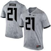 Men's Nike No. 21 Gray Oregon Ducks Past Program Jersey