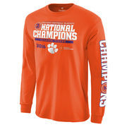 Men's Fanatics Branded Orange Clemson Tigers College Football Playoff 2016 National Champions Multi-Champ Long Sleeve T-Shirt