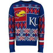 Unisex Klew Royal Kansas Jayhawks Thematic Ugly Sweater