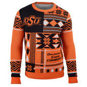 Men's Orange Oklahoma State Cowboys Patches Ugly Sweater