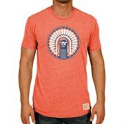 Men's Original Retro Brand Heather Orange Illinois Fighting Illini Vintage Tri-Blend T-Shirt