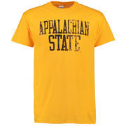 Men's Gold Appalachian State Mountaineers Straight Out T-Shirt