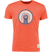 Men's Original Retro Brand Heather Orange Illinois Fighting Illini Vintage Tri-Blend T-Shirt