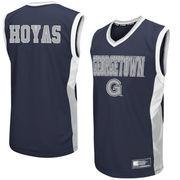 Men's Colosseum Gray Georgetown Hoyas Fadeaway Basketball Jersey