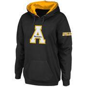 Women's Stadium Athletic Black Appalachian State Mountaineers Big Logo Pullover Hoodie