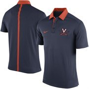 Men's Nike Navy Blue Virginia Cavaliers Coaches Sideline Performance Polo