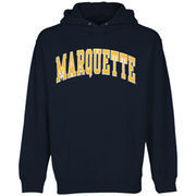 Mens Marquette Golden Eagles Navy Blue Bold Arch Hoodie