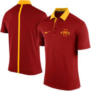 Men's Nike Cardinal Iowa State Cyclones Coaches Sideline Dri-FIT Polo