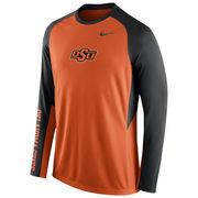 Nike Orange Oklahoma State Cowboys 2015-2016 Elite Basketball Pre-Game Shootaround Long Sleeve Dri-FIT Top
