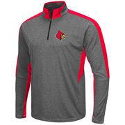 Men's Colosseum Charcoal Louisville Cardinals Atlas Quarter-Zip Jacket