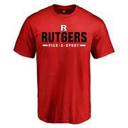 Men's Scarlet Rutgers Scarlet Knights Custom Sport T-Shirt