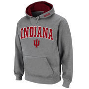 Men's Stadium Athletic Gray Indiana Hoosiers Arch & Logo Pullover Hoodie