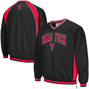 Men's Colosseum Black Texas Tech Red Raiders Fair Catch Pullover Jacket