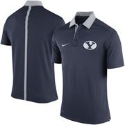 Men's Nike Navy Blue BYU Cougars Coaches Sideline Performance Polo