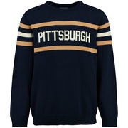 Men's Hillflint Navy Pitt Panthers Vintage Stadium Knit Sweater