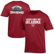 Men's Champion Crimson Oklahoma Sooners 2016 Official Fan T-Shirt