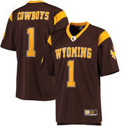 Men's Colosseum #1 Brown Wyoming Cowboys Hail Mary Football Jersey