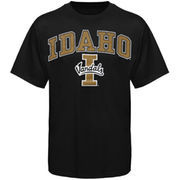 Mens Black Idaho Vandals Arch Over Logo T-Shirt