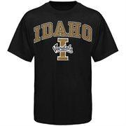 Mens Black Idaho Vandals Arch Over Logo T-Shirt