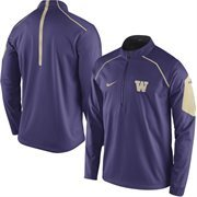 Men's Nike Purple Washington Huskies 2015 Football Coaches Sideline Quarter-Zip Performance Jacket
