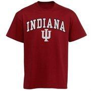 Men's New Agenda Cardinal Indiana Hoosiers Arch Over Logo T-Shirt