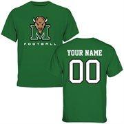 Marshall Thundering Herd Personalized Football T-Shirt - Green