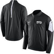 Men's Nike Black TCU Horned Frogs 2015 Football Coaches Sideline Half-Zip Wind Jacket