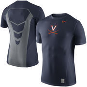 Men's Nike Navy Virginia CavaliersSideline Hypercool 3.0 Dri-FIT Fitted Performance Top