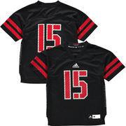 Youth adidas #15 Black Nebraska Cornhuskers Event Football Jersey