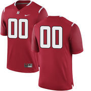 Men's Nike Red Rutgers Scarlet Knights Custom Team Color Replica Jersey