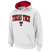 Men's Stadium Athletic White Texas Tech Red Raiders Arch & Logo Pullover Hoodie