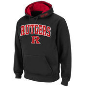 Men's Stadium Athletic Black Rutgers Scarlet Knights Arch & Logo Pullover Hoodie