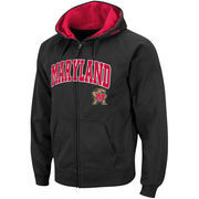 Men's Stadium Athletic Black Maryland Terrapins Arch & Logo Full Zip Hoodie
