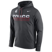 Men's Nike Anthracite Washington State Cougars Circuit Pullover Performance Hoodie