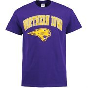 Men's Purple Northern Iowa Panthers Mid-Size Arch Over Logo T-Shirt