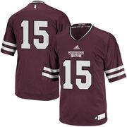 Men's adidas Maroon Mississippi State Bulldogs #15 Premier Football Jersey