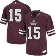 Men's adidas Maroon Mississippi State Bulldogs #15 Premier Football Jersey