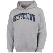 Men's Fanatics Branded Gray Georgetown Hoyas Basic Arch Pullover Hoodie