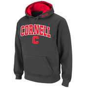 Men's Stadium Athletic Charcoal Cornell Big Red Arch & Logo Pullover Hoodie