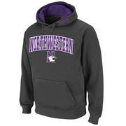 Men's Stadium Athletic Charcoal Northwestern Wildcats Arch & Logo Pullover Hoodie