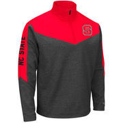 Men's Colosseum Charcoal/Red NC State Wolfpack Top Gun Quarter-Zip Pullover Jacket