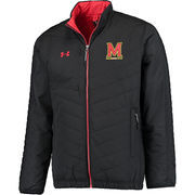 Men's Under Armour Black Maryland Terrapins Accelerate Full-Zip Jacket