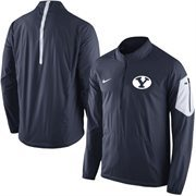 Men's Nike Navy BYU Cougars 2015 Football Coaches Sideline Half-Zip Wind Jacket