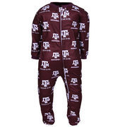 Texas A&M Aggies Infant Maroon Spirited Fleece Footed Sleeper