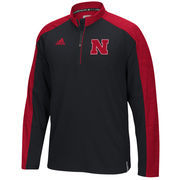Men's adidas Black Nebraska Cornhuskers 2016 Football Coaches 1/4 Zip Jacket