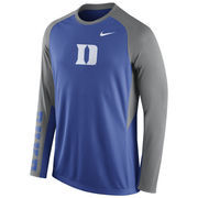 Nike Royal Duke Blue Devils 2015-2016 Elite Basketball Pre-Game Shootaround Long Sleeve Dri-FIT Top